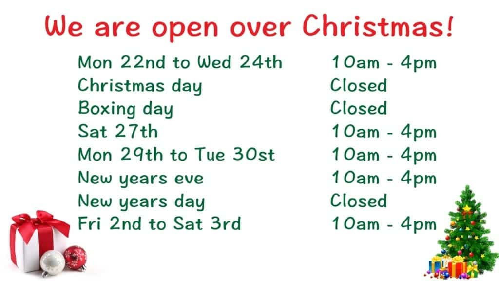 Our Christmas Trading Hours